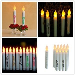 LED Taper Candle with Flickering Wick