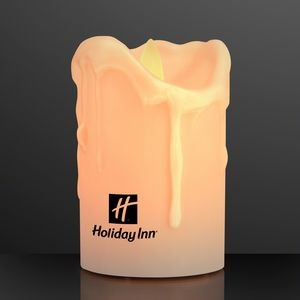 Windproof LED Pillar Candle with Moving Flame